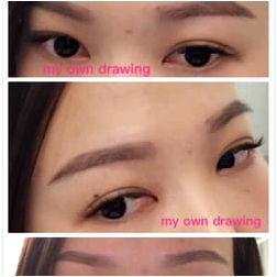 Permanent makeup jj eyelashes products around the procedure area