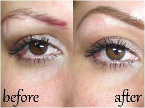Pros & cons of inked eyebrows & other permanent makeup along with the exact color