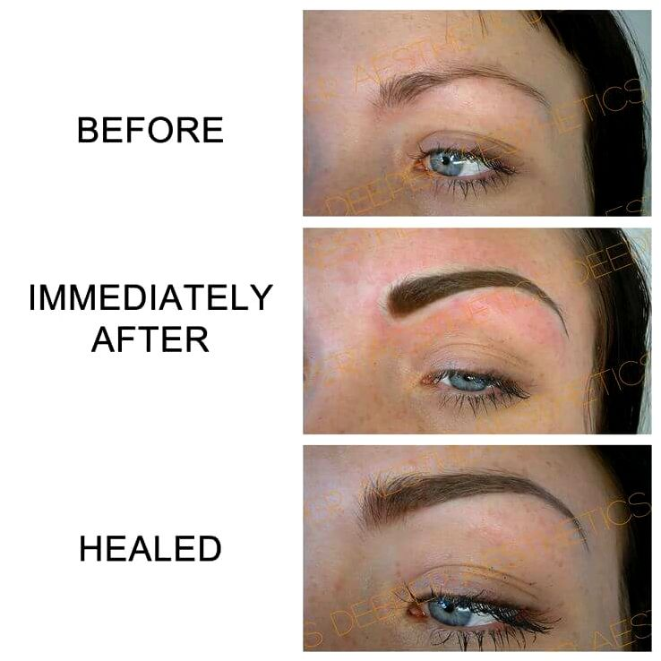 The main difference between permanent makeup and microblading the eyebrow