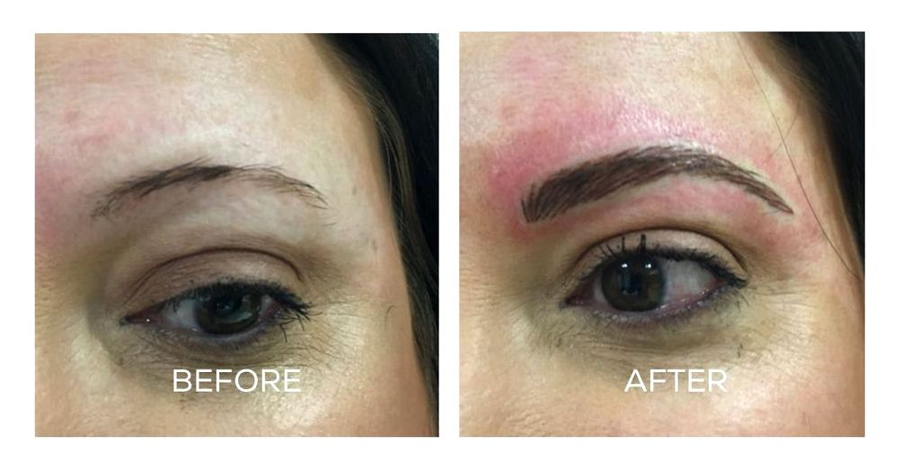 The main difference between permanent makeup and microblading are scared of permanent